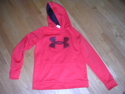 Under Armour STORM Cold Gear Boy's Girls Youth LARGE Red SWEATSHIRT LOOSE