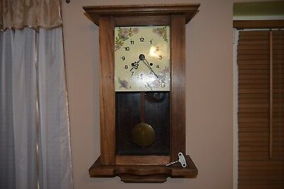 Antique Wall Clock - Working.