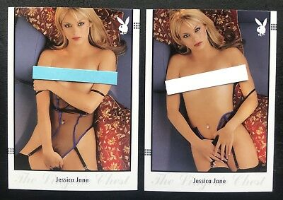 Jessica Jane 2009 Playboy's The Lingerie Chest (2) Card Lot