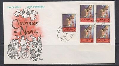 Can 503 - 1969 6c Christmas Children Praying - Multi Frank FDC by Cole Cover