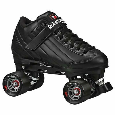NEW! ROLLER DERBY STOMP 5 ELITE BLACK MEN's 5-12 QUAD SPEED SKATES