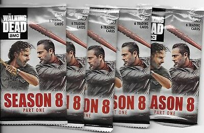 2018 Topps The Walking Dead Season 8 5 Pack Sealed Lot 6 Cards Per Pack #'d Ssp?