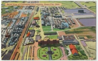 1940s Ponca City Oklahoma Aerial View of Continental Oil Company