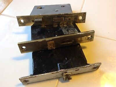 Vintage Antique Door Knob Lock Mechanism 3 Original Estate Locks