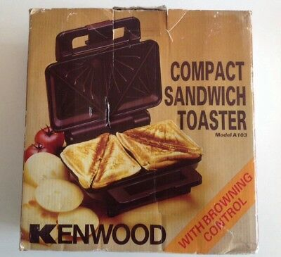 Vintage Kenwood Compact Sandwich Toaster a103 Browning Control Boxed Unused Brow