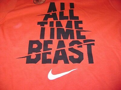 Nike Red Training Tee  Youth Large  New $20  Nice  Says: All Time Beast !!