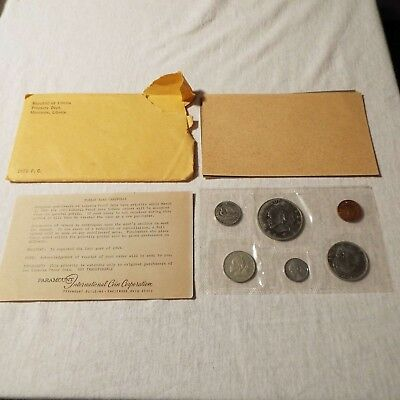 1968 Republic of Liberia 6 Coin Silver Proof Set with envelope and COA card