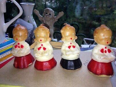 """Vintage Gurley Candle Gurley Novelty Company 3"""" Choir Candles"""
