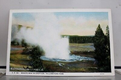 Yellowstone National Park Minute Man Eruption Postcard Old Vintage Card View PC