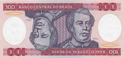 100 Cruzeiros Aunc Banknote From Brazil 1984!pick-198