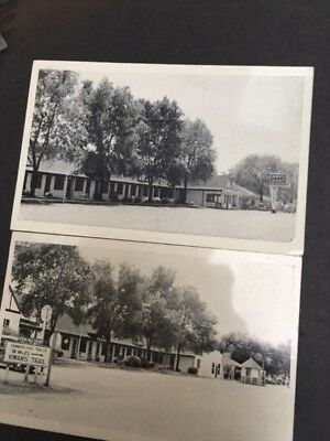 Lot of 2 roadside postcards, Yeary's Tourist Court, Gas Station, Cafe, Corbin KY