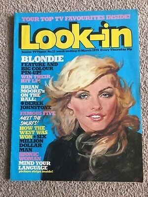 Vintage Look-in  Magazine 1979 BLONDIE DEEBBIE HARRY ANDY GIBB