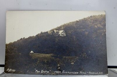 New York NY Unadilla Evergreen Hill Ontio Postcard Old Vintage Card View Post PC
