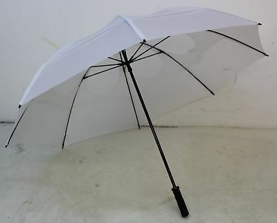 "NEW GUSTBUSTER Pro Series 62"" Vented Windproof White Golf Sport Umbrella"