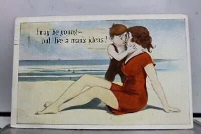 Comic Cartoon May Be Young Man's Ideas Postcard Old Vintage Card View Standard