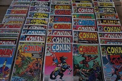 CONAN THE BARBARIAN lot of 47 Marvel Comic Books in Individual Bag /Board