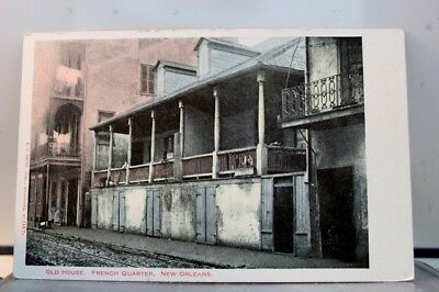 Louisiana LA New Orleans French Quarter House Postcard Old Vintage Card View PC