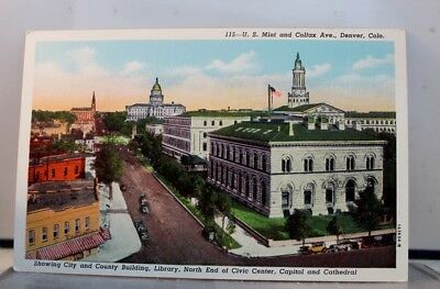 Colorado Denver Mint Colfax Ave City County Building Library Civic Center PC Old