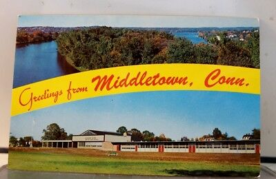 Connecticut CT Middletown Greetings Postcard Old Vintage Card View Standard Post