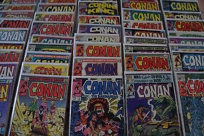CONAN THE BARBARIAN lot of 54 Marvel Comic Books in Individual Bag /Board