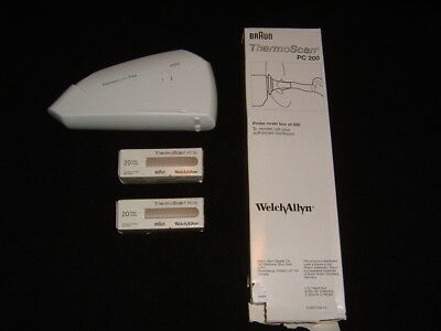 Braun ThermoScan Plus ++ Lot of 220++ Braun Welch Allyn PC 200 Probe Covers
