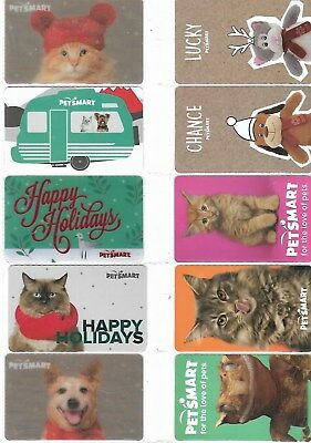 10 Different Pet Smart Gift Cards   T12-11