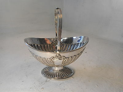 Quality Silver Plate Sugar Bowl , Basket  ref 2821