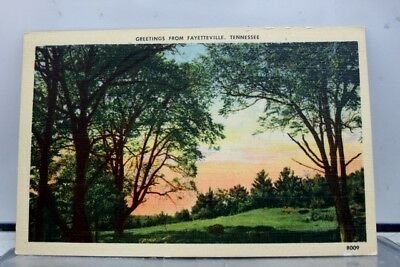 Tennessee TN Fayetteville Greetings Postcard Old Vintage Card View Standard Post