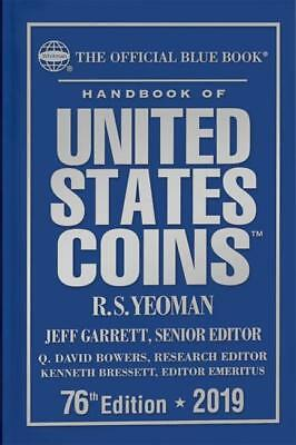 2019 Blue Book US Coins Guide 76th Ed Hardcover by RS Yeoman Whitman Publishing