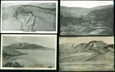 4 Real Photo Postcards - New Zealand Craters