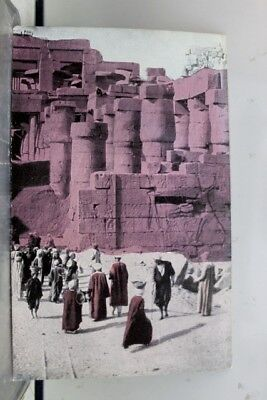 Egypt Karnak Ammon Temple Laborers Excavating Postcard Old Vintage Card View PC