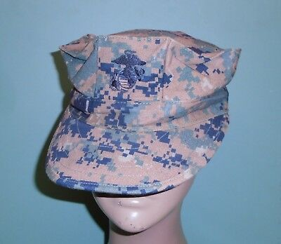 US Military Issue Marine Corps USMC 8 Point Woodland Marpat Camo Cover Hat Cap M