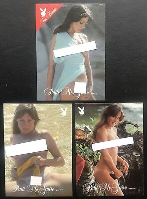 Patti McGuire 2003 Playboy's Playmate of the Year (3) Card Lot - Nice