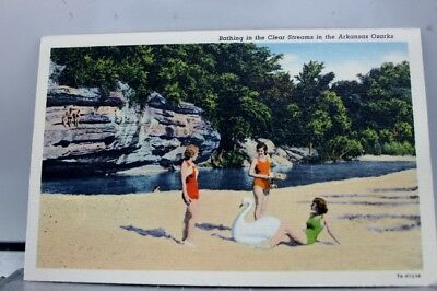 Arkansas AR Ozarks Clear Streams Bathing Postcard Old Vintage Card View Standard