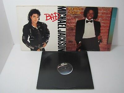 3 Michael Jackson Records - Thriller + Bad + Off The Wall