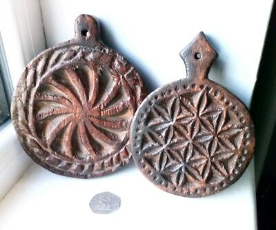 Vintage Antique Hand Carved Wooden Butter? Pastry Moulds African Dutch Indian ?