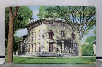 Wisconsin WI Tallman Home Museum Janesville Postcard Old Vintage Card View Post