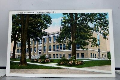 Connecticut CT Enfield High School Thompsonville Postcard Old Vintage Card View