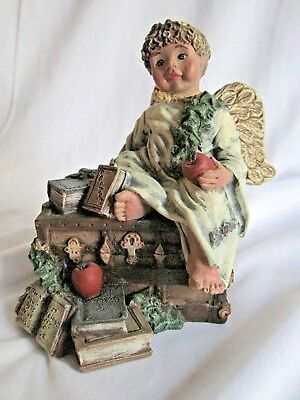 Sarah's Attic Heavenly Sharing Angel Figurine 1995 Limited Edition Signed
