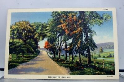 Wisconsin WI Clearwater Lake Postcard Old Vintage Card View Standard Souvenir PC