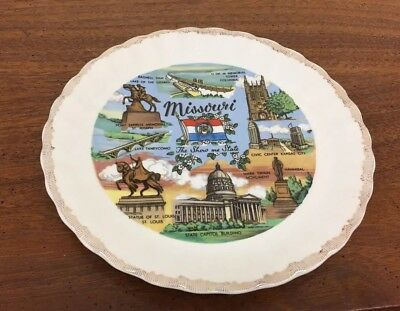 "Missouri The Show Me State Colorful 7"" Souvenir Collector Plate"
