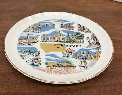"Elegant Montana Colorful 7"" Souvenir Collector Plate"