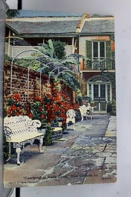 Louisiana LA Freirson Court New Orleans Postcard Old Vintage Card View Standard