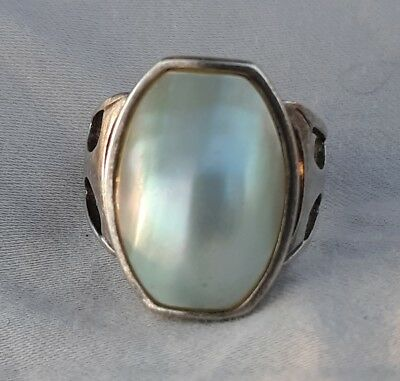 Vintage Sterling Silver Mother of Pearl Ring Desert Rose Trading Co 925 DRT