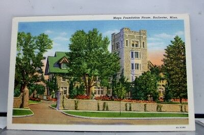 Minnesota MN Mayo Foundation House Rochester Postcard Old Vintage Card View Post