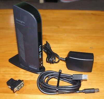 Kensington K33972US USB 3.0 Docking Station w/ Dual DVI/HDMI/VGA Video sd3500v