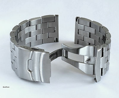 20mm Solid Brushed Double Lock Heavy Stainless Bracelet watch Womens Mens 4 ALL