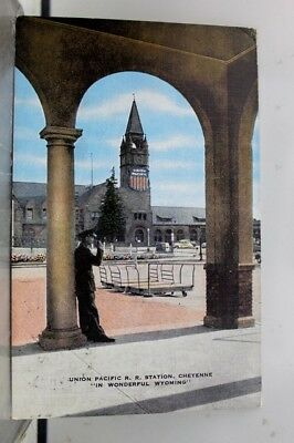 Wyoming WY Union Pacific Station Cheyenne Postcard Old Vintage Card View Post PC