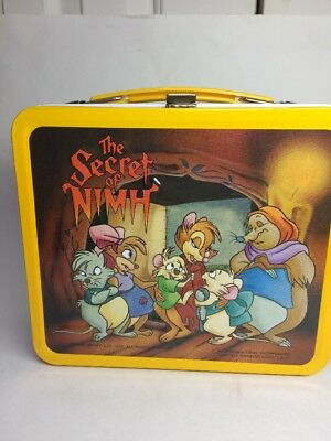 The Secret of Nimh Vintage Metal Lunch Box 1982 By Aladdin Includes Thermos/Cup!