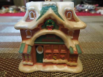 "Avon Snow Frost Falls Victorian Village Light Cover Toy Shoppe w/Box 3"" high"